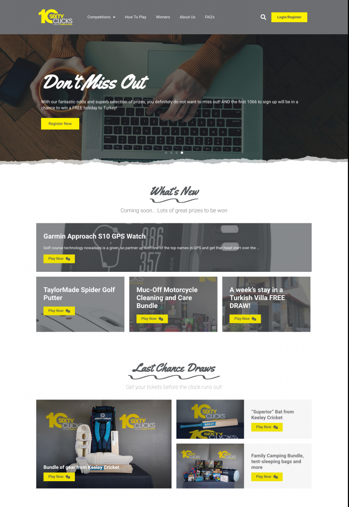 TenSixtyClicks new website build by Growth by Design